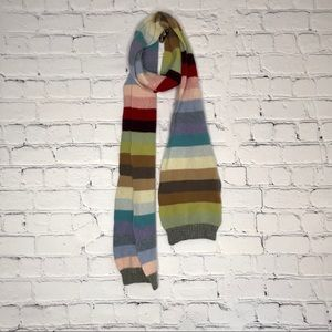 THE Gap Rainbow Scarf 100% Lambswool Extra Long